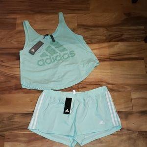 Adidas short set size large